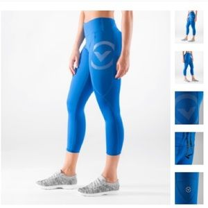 Virus blue eco28 stay cool compression leggings Sm